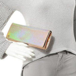 Gucci Broadway Crackled Metallic Iridescent Clutch